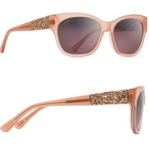 { Maui Jim } Monstera Leaf 24K Gold Sunglasses